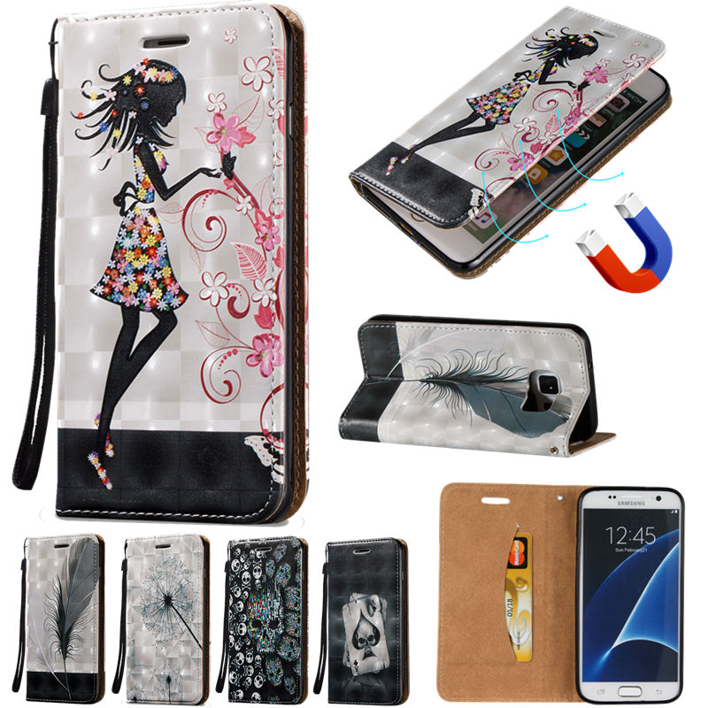 i9082 A3 A5 J1 J3 J5 J7 2015 2016 Magnetic Leather Flip Card Slot Cover Cases for Samsung Galaxy Note3 S4 5 S6 S7 edge G360 G530