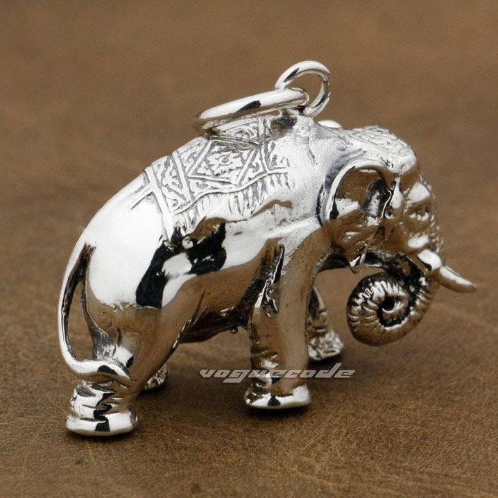 Cool the mighty elephant pendant solid 925 sterling silver mens cool the mighty elephant pendant solid 925 sterling silver mens huge and heavy fashion pendant 8p023 in pendants from jewelry accessories on aloadofball Image collections