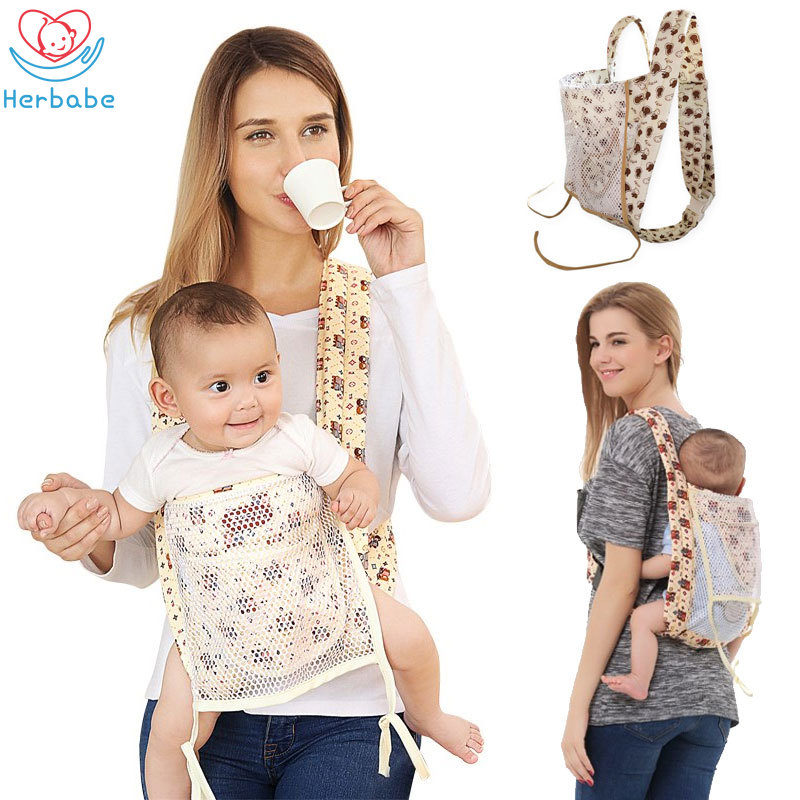 Herbabe 0 36M Ergonomic Baby Carriers for Newborn Infant Cartoon Hipseat Carrier Front Carry Kangaroo Baby Wrap Sling Backpack|Backpacks & Carriers| |  - title=