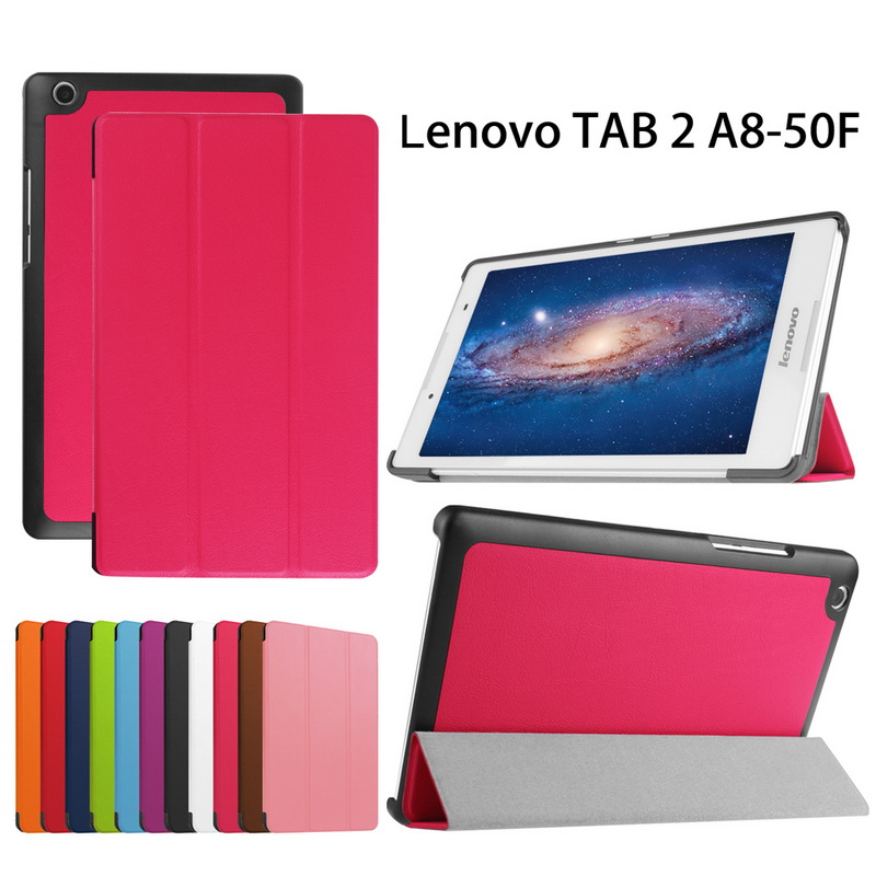 Ultra Slim Case for Lenovo tab 2 A8 50 Case,Flip PU Leather Stand Tablet Smart Cover for Lenovo Tab 2 A8-50F 8.0inch+Stylus/Pen new slim folio bracket for lenovo a7 20f standing tablet cover for lenovo tab 2 a7 20 flip protective tablet case