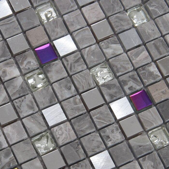 gray color <font><b>stone</b></font> mixed glass mosaic tiles for kitchen <font><b>backsplash</b></font> tile bathroom shower mosaic tiles subway mosaic