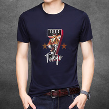 цена на New Clothing Fashion T Shirt Men Cotton Breathable Mens Short Sleeve Fitness t-shirt funny Gyms Tee tiger Casual Summer Top