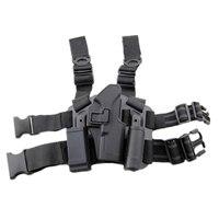 CQC Tactical gun holster Drop Leg Holster Plateform for Glock 17 pistol holster black DE