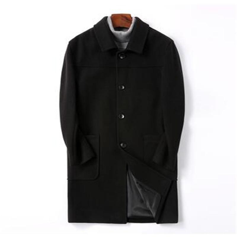 Coats Wool-Jackets Classic Men's Mans Long New Spring-Windbreakers Slim-Fit M-4XL Hot-Sale