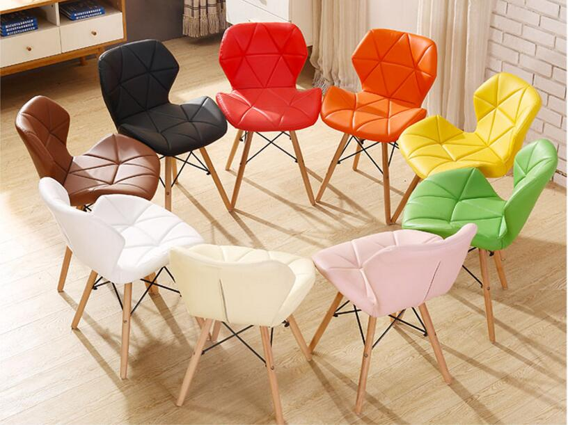 49*53*71CM PU Leather Dining Chair Fashion Conference Meeting Chair Modern Computer Backrest Chair 240337 ergonomic chair quality pu wheel household office chair computer chair 3d thick cushion high breathable mesh
