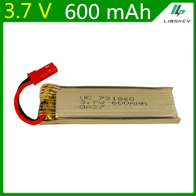 3.7V 600mAH Remote Control aircraft flying saucer remote axis 3.7V 600mAH Lipo battery 1S JST red plug 721860 image