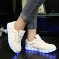 Kriativ blanco chico led light up shoes con carga usb glowing zapatillas zapatillas led luminoso sneakers brillante chica zapato infantil