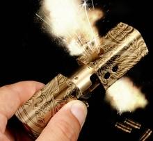 WZH 8.5*2.3*2.3cm brass handmade Automatic 1918 aluminum retro kerosene dragon  girl lighter