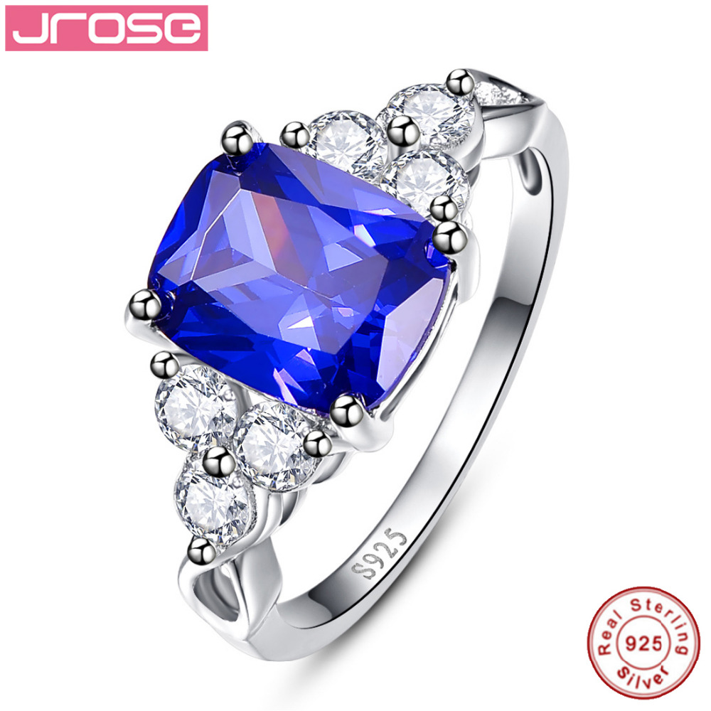 Jrose Fine Jewelry Blue White CZ Real Pure 100% S925