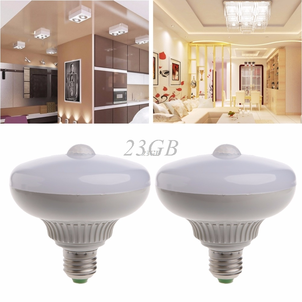LED Bulb w/Motion Sensor E27 12W PIR Activatived Energy Saving Night Lamp JUL18_25 smart bulb e27 7w led bulb energy saving lamp color changeable smart bulb led lighting for iphone android home bedroom lighitng