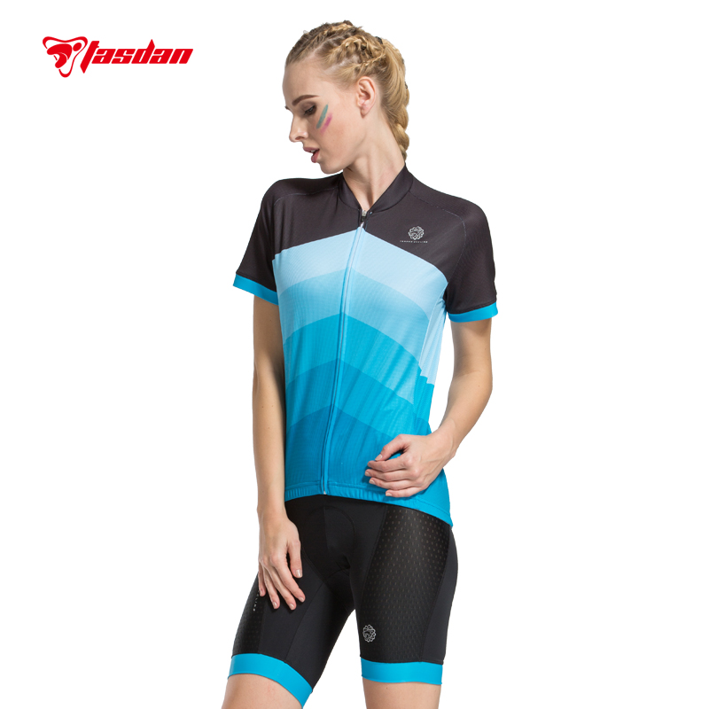 Tasdan Womens Cycling Jersey Sets High Quality Bike Bicycle Cycling Clothings Cycling Jersey Shorts Cycling Gloves