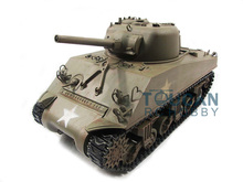 100% Metal Mato 1/16 M4A3 Sherman RC Tank RTR Infrared Recoil Army Green 1230
