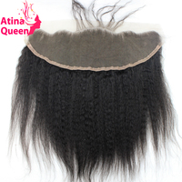 Atina Queen Kinky Straight 13x4 Ear To Ear Full Lace Frontal Closure With Baby Hair Italian