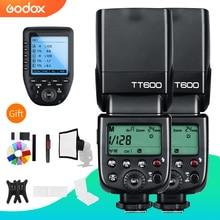 Godox 2x TT600 2.4G Wireless GN60 Master/Slave Flash Della Fotocamera Speedlite con Xpro Trigger per Canon Nikon Sony pentax Olympus Fuji