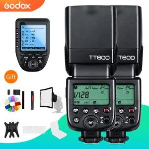 Image 1 - Godox 2x TT600 2.4G bezprzewodowy GN60 Master/Slave lampa błyskowa Speedlite z Xpro wyzwalania dla Canon Nikon Sony Pentax produktu firmy Olympus Fuji