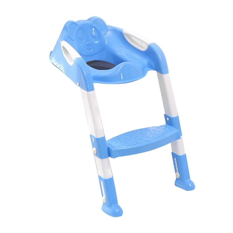 Asiento de entrenamiento para orinal de bebé de 2 colores con escalera ajustable asiento de inodoro para bebé
