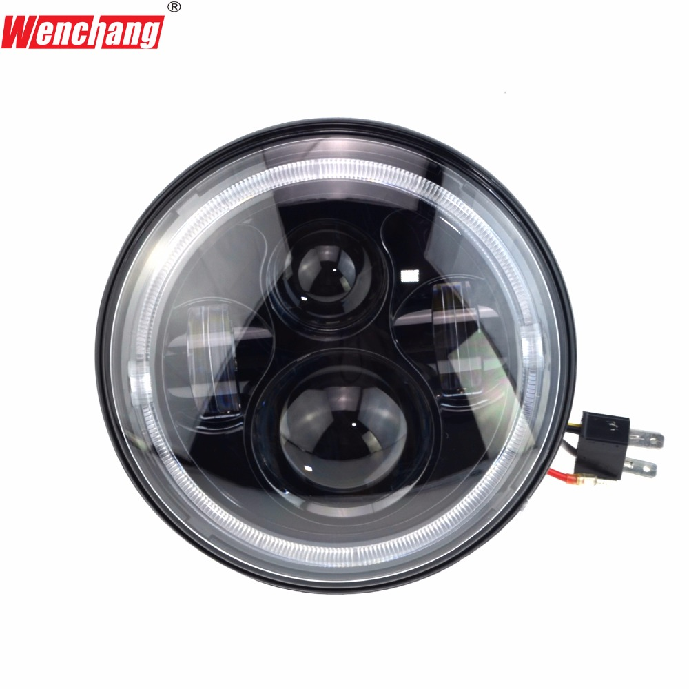 WENCHANG 2017 NEW ARRIVAL motorcycle headlight 7inch LED headlight for Harley Davidson DRL DC 12V 35W Hi/Lo beam2900/3800LM