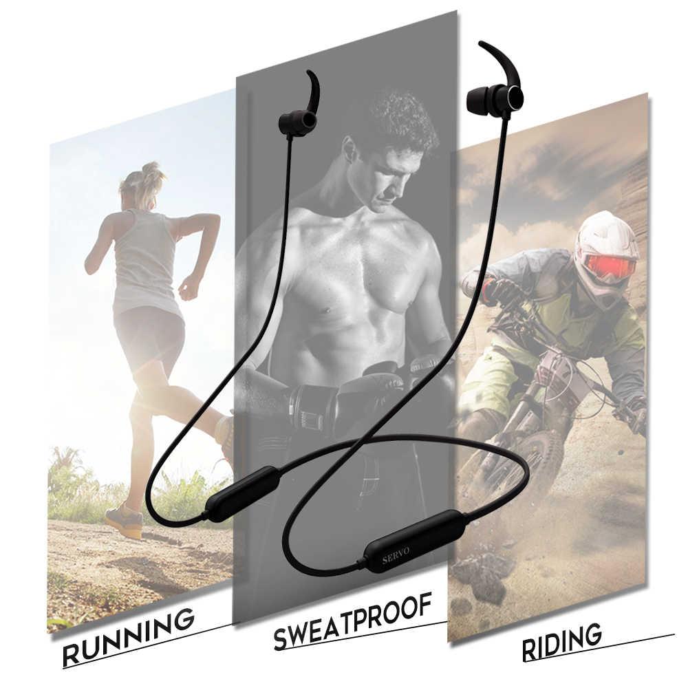 Serwo XS słuchawki basowe IPX7 wodoodporny sportowe słuchawki bluetooth/bezprzewodowy zestaw słuchawkowy z mikrofon do iPhone'a xiaomi LG