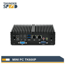 Hot Saling Fanless X86 Mini PC Dual Nic RS232 with 4G RAM 64G SSD Dual Antenna VGA 2 HDMI Win 10 PFsense Router
