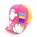 2016 new children's cartoon GIG HERO hat embroidered baseball cap boy sun hat girl chapeau mesh eyelet breathable hat for kids