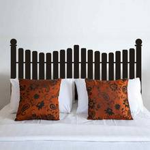 Antique Headboard Picket Fence Headboard Wall Decal Beds Decor Wall Decals Vinyl Wall Sticker Dorm Bedroom Home Decorations(China)