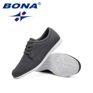 Image 5 - BONA yeni klasik tarzı erkekler rahat ayakkabılar tuval erkek günlük ayakkabı Lace Up erkekler moda Sneakers ayakkabı rahat ücretsiz kargo