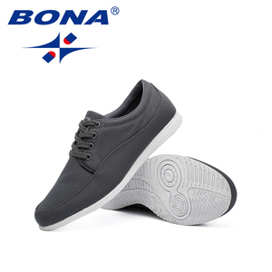 Image 5 - BONA החדש קלאסיקות סגנון גברים נעליים יומיומיות בד גברים פנאי נעלי תחרה עד גברים אופנה סניקרס נעליים נוח משלוח חינם