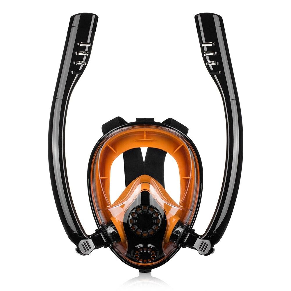 Natation sèche sous-marine sport Anti-buée apnée outil été entraînement plein visage Snokel Silicone masque de plongée étanche sous-marine