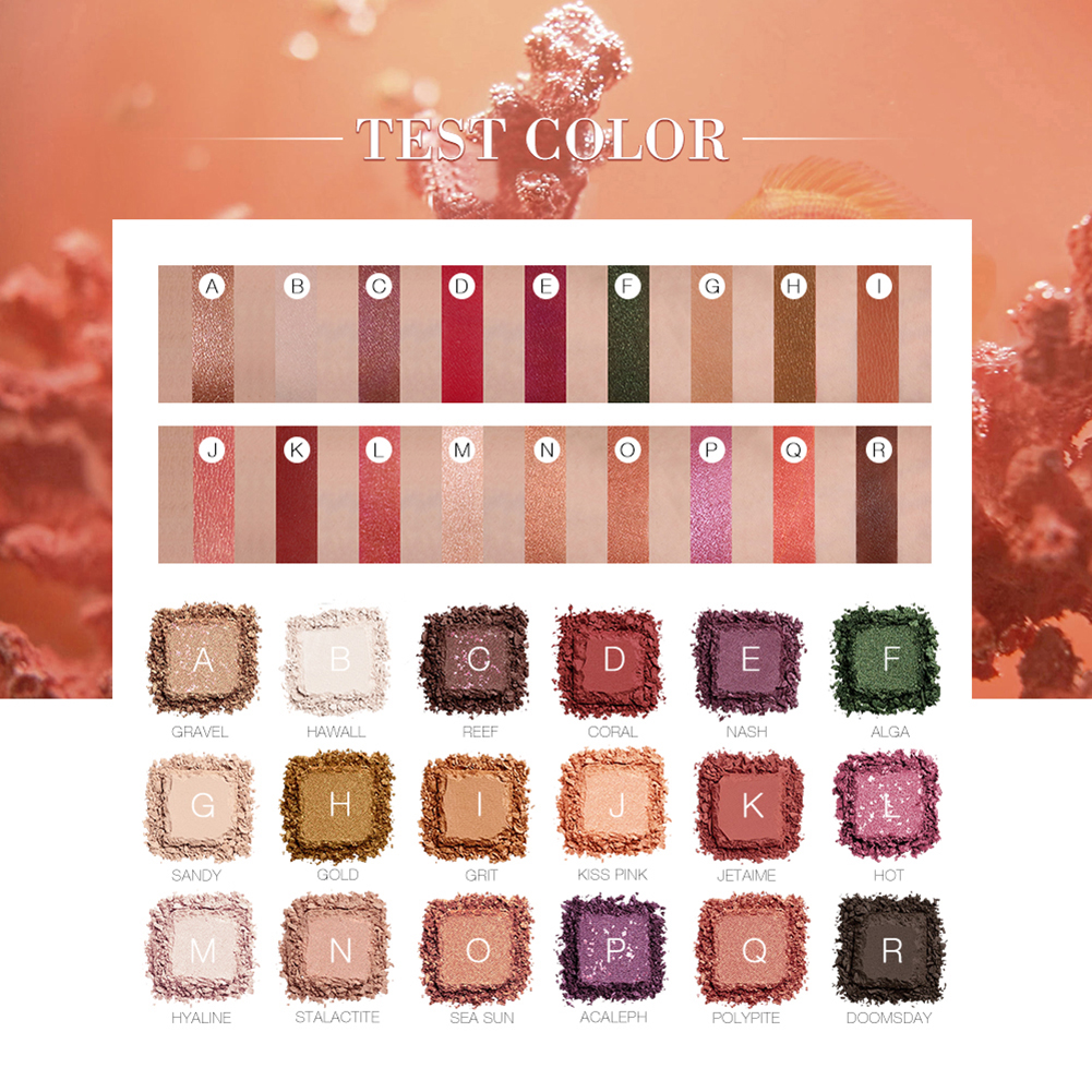 18 Colors Arrival Beauty Glazed Makeup Eyeshadow Pallete makeup Palette Shimmer Pigmented Eye Shadow maquillage in Eye Shadow from Beauty Health