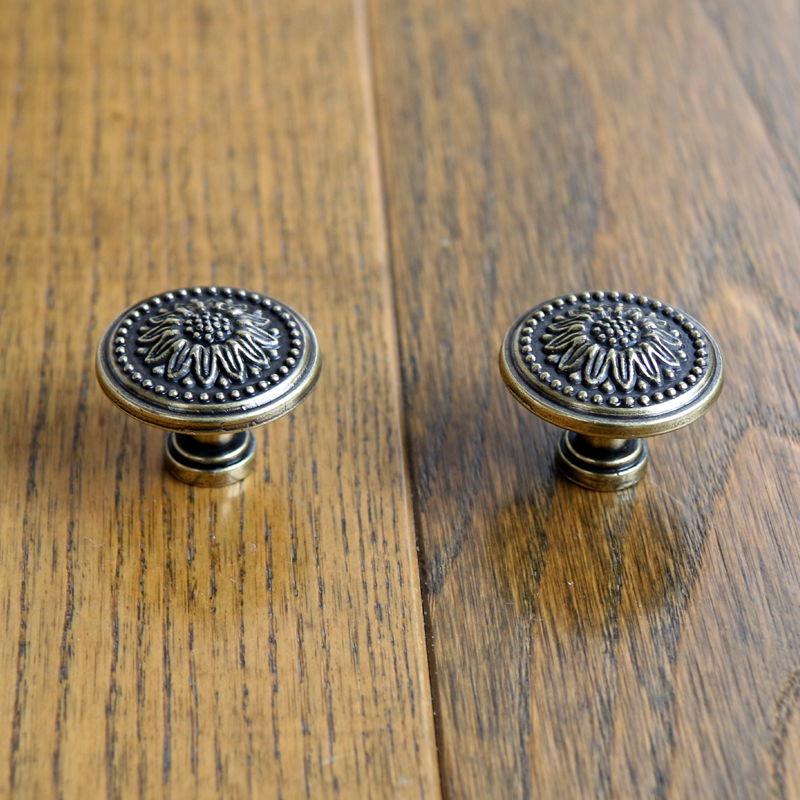 30mm Kitchen Cabinet Knobs Antique Bronze Closet Handles Dresser Pulls vintage furniture knob