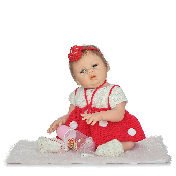 Full Silicone Body Reborn Babies Doll Toys 50cm Newborn Girl Baby Doll Lovely Kids Birthday Gift Bathe Toy Girls Brinquedos 55cm full body silicone reborn baby doll toys newborn girl baby doll lovely child birthday gift bathe toy girls brinquedos