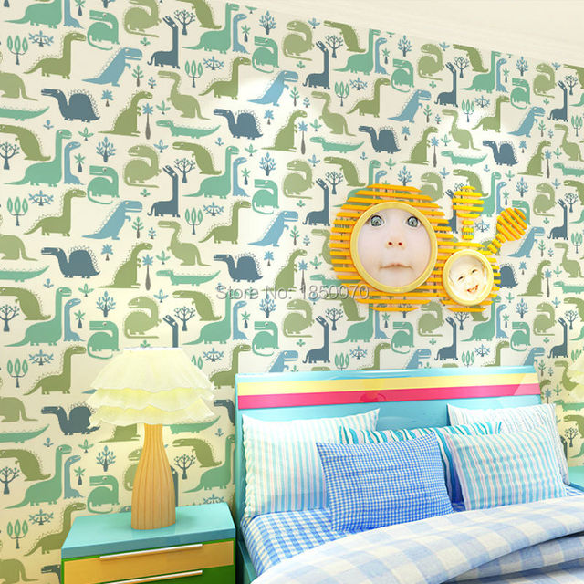 2015 Latest Cute Dinosaur Pattern Wallpaper Kids And Baby For Bedroom Study Room