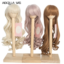 1/4 Bjd SD Doll Wigs for Dolls High Temperature Wire Long Wave Curly Wig 3 Colors 1/3 Scale Doll Wig for Dolls Accessories new arrival 1 piece 100cm long wigs wave small curly long wig hair tree for 1 3 1 4 1 6 bjd diy dolls hair