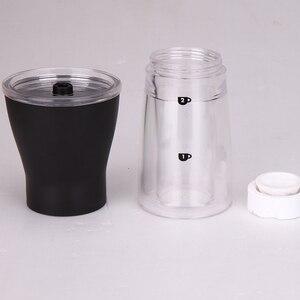 Image 4 - RU Verschiffen TUANSING Manuelle Kaffeemühle Waschbar ABS Keramik core Edelstahl Küche Mini Manuelle Hand Kaffeemühle