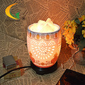 ceramic hollow Himalayan salt crystal lamp bedroom lamp night light computer small table lamp Book Lights