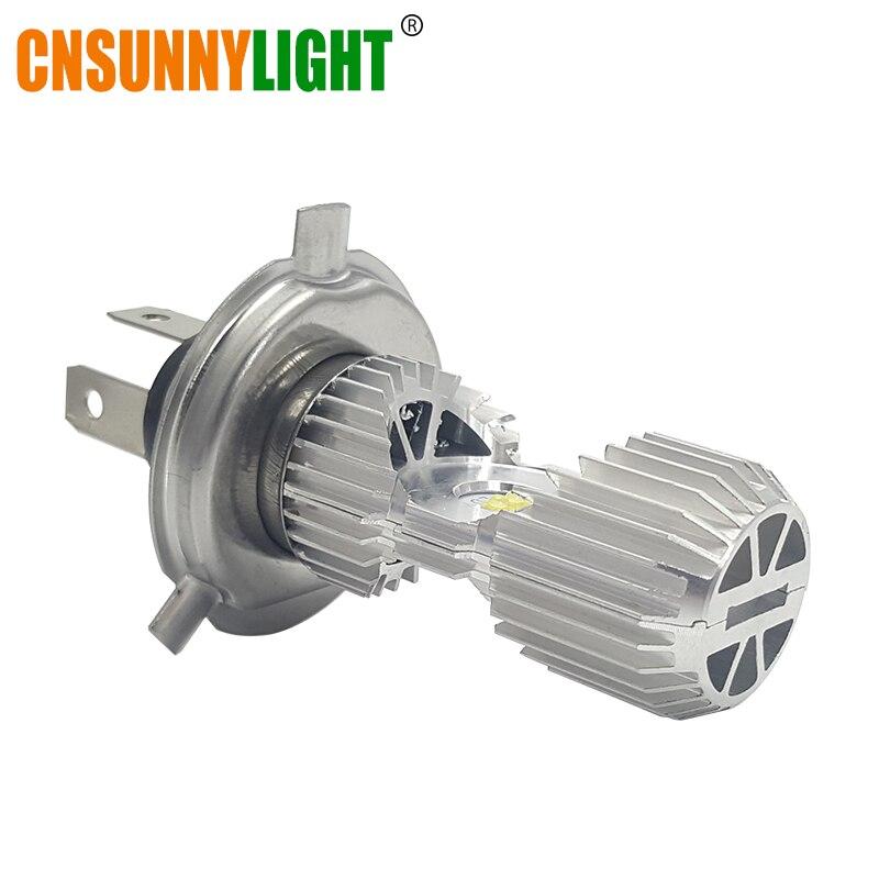 CNSUNNYLIGHT Motorrad Scheinwerferlampe 1100Lm Bi-Beam LED H4 P43t HS1 BA20D P15D-25-1 Hallo/Lo Lampe Roller Scheinwerfer Moto Licht