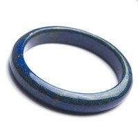 Подлинная натуральный темно синий украшения из лазурита камня женские ювелирные изделия Очаровательный браслет внутренний диаметр 58 мм