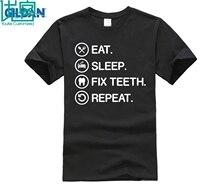 Eat Sleep Fix Teeth Funny Dentistry Dentist T Shirt Gift