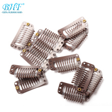 Bhf защелкивающиеся зажимы 9 зубов для наращивания волос 32 мм можно использовать более чем в 1000 раз зажимы черный/коричневый и блонд цвет