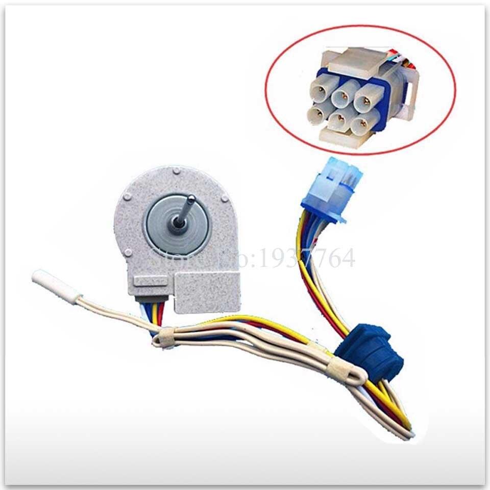 2pcs lot new refrigerator freezer Double open the door Fan motor for FDQT26GE6 FDQT26GE8 9 7V