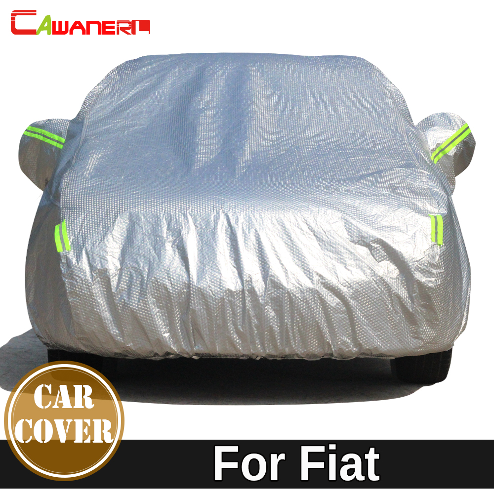 Cawanerl Thicken Car Cover Waterproof Sun Shade Snow Rain Protect Cotton Cover For Fiat Perla Palio Weekend Siena 500 Albea IdeaCawanerl Thicken Car Cover Waterproof Sun Shade Snow Rain Protect Cotton Cover For Fiat Perla Palio Weekend Siena 500 Albea Idea