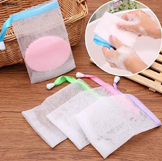 NABAG 4pcs Handmade Soap Storage Bags Mesh Soap Sa