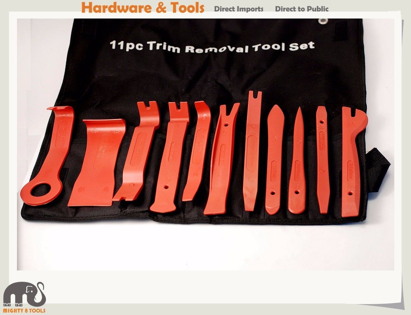 11pc Car Trim Door Panel Removal Impact Resistant Nylon Molding Set Kit