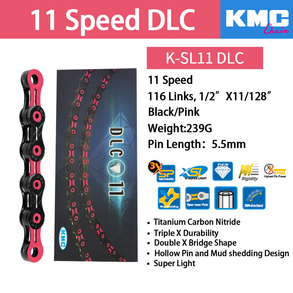 9 Speed Super Light MTB Road//Mountain Bike Bicycle Chain HollowPin 116L