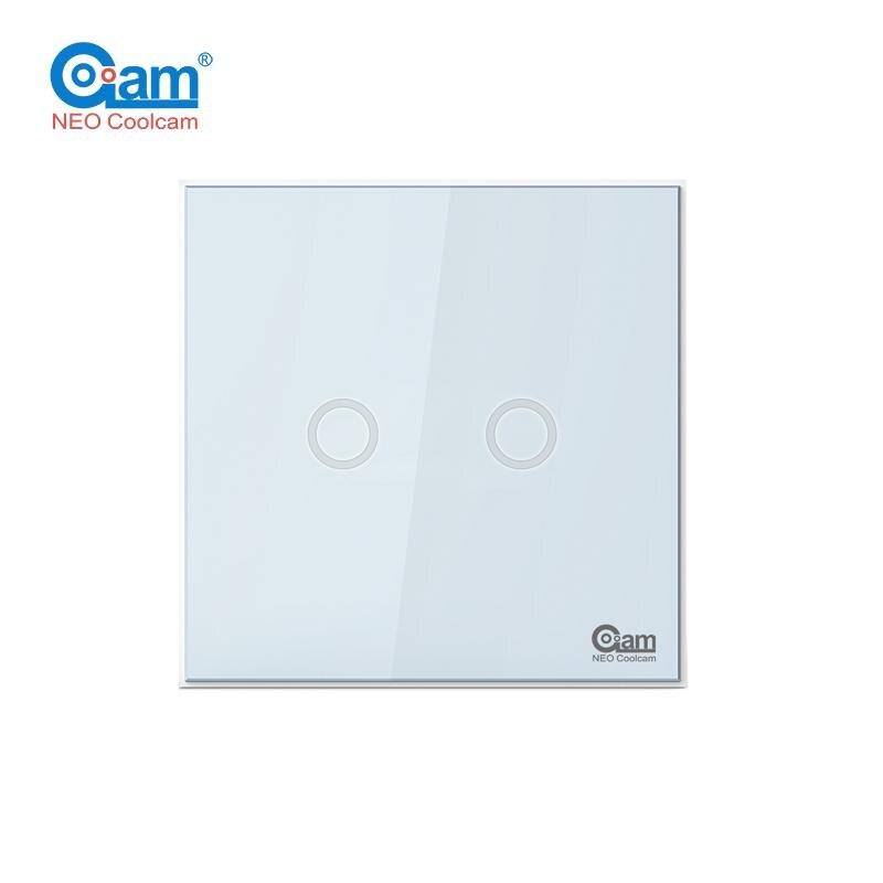 D'origine Coolcam NAS-SC01ZE L'UE Mur Interrupteur 2CH Gang Domotique Z Vague Plus Sans Fil Intelligent Télécommande Interrupteur de Lumière
