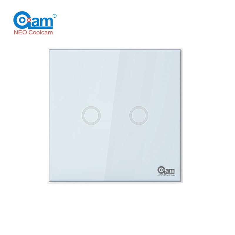 Original Coolcam NAS SC01ZE EU Wall Light Switch 2CH Gang Home ...