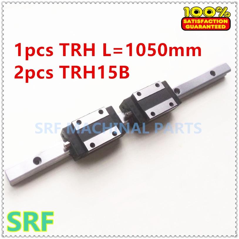 ФОТО 1pcs 15mm width 1050mm TRH15  Linear Guide  Rail  + 2pcs TRH15B Block Carriage Linear motion guide way  CNC