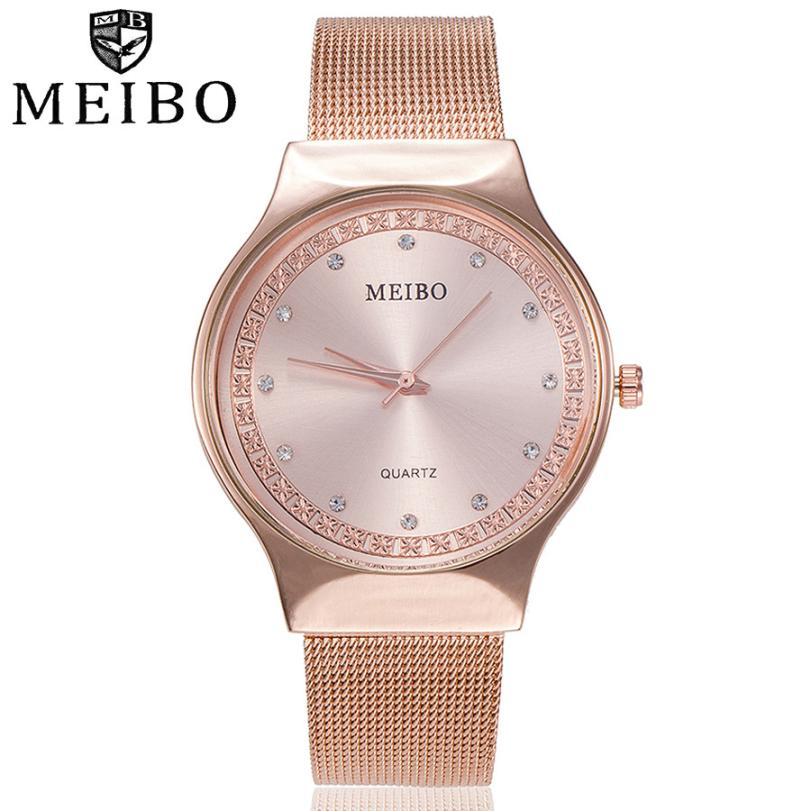 MEIBO Women's Watches Ladies Casual Quartz Stainless Steel New St rap Watch Analog Wrist Watch Female Clock relogio feminino A2 brand new relogio feminino date day clock female stainless steel watch ladies fashion casual watch quartz wrist women watches