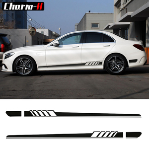 Pair of Edition 1 Side Stripes Decal Sticker for Mercedes Benz W205 C Class C63 AMG Stickers-6 colors to Choose