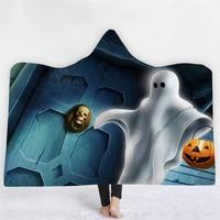 Horror Halloween Props Soft Fluffy Halloween Blanket Thick Warm Luxury Scary Children Kids Men Women Halloween Costumes